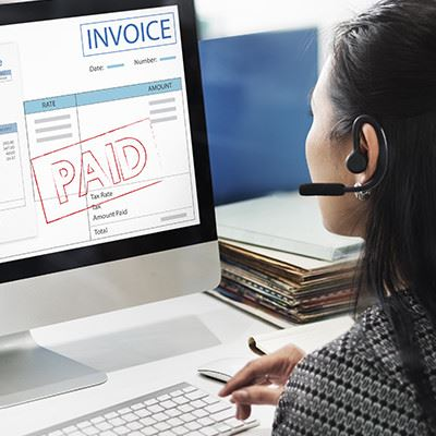 Invoice on Computer