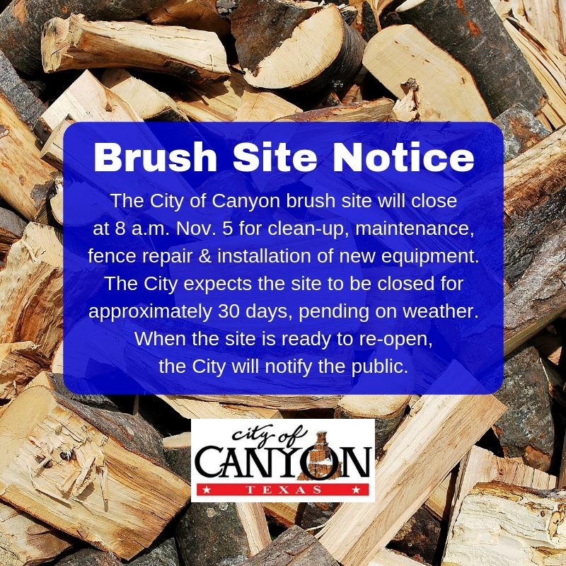 brush site notice 11-1-18