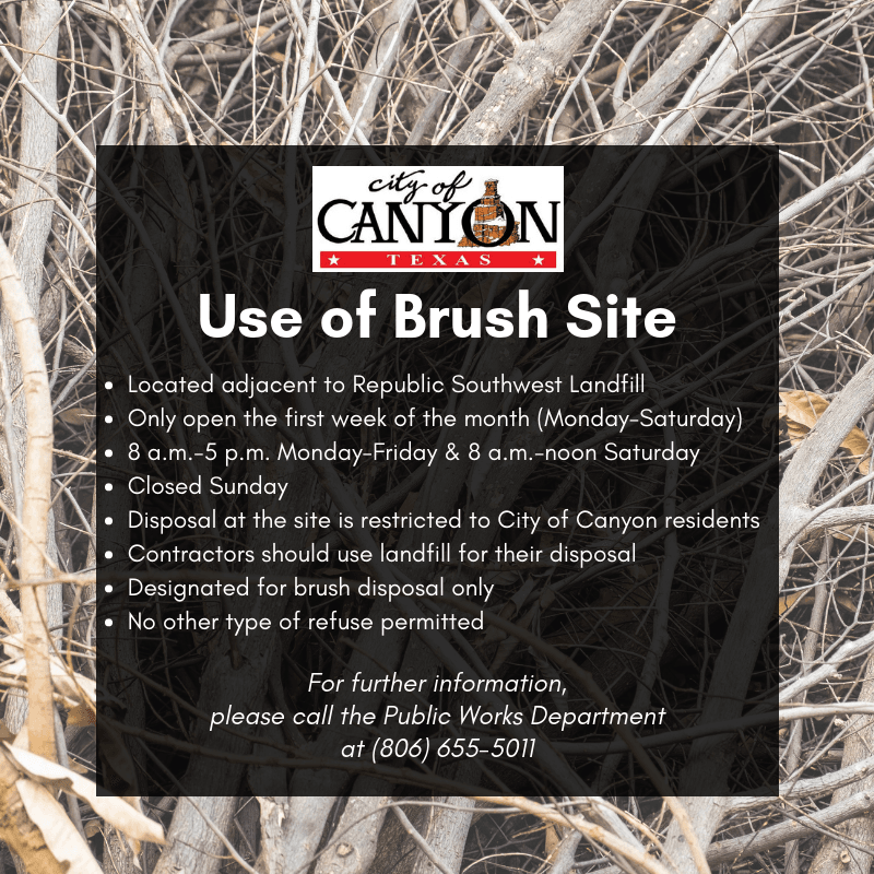 Use of Brush Site, Updated 3-1-19